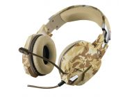 Auriculares Gaming Con Micrófono Trust Gaming Gxt 322D/ Jack 3.5/ Desierto Camuflaje