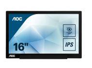 Monitor Portátil Aoc I1601Fwux 15.6'/ Full Hd/ Negro
