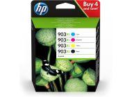 PACK 4 CARTUCHOS ALTA CAPACIDAD HP 903XL NEGRO/CIAN/MAGENTA/AMARILLO