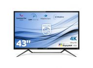 Monitor Multimedia Philips 436M6Vbpab - 42.51'/108Cm - 3840*2160 4K - 720Cd/M2 - Hdr - 4Ms - Alt. 2*7W - Ambiglow - Displayport - Minidp - Hdmi -2*Usb
