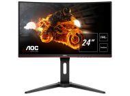 Monitor Gaming Curvo Aoc C24G1 - 24'/60.9Cm - 1920*1080 Full Hd - 16:9 - 250Cd/M2 - 80M:1 - 1Ms - Vga - 2*Hdmi - Displayport - Freesync