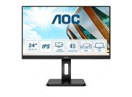 Monitor Profesional Aoc 24P2C 23.8'/ Full Hd/ Multimedia/ Negro