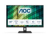 Monitor Profesional Aoc U32E2N 31.5'/ 4K/ Multimedia/ Negro