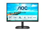 Monitor Aoc 24B2Xdam 23.8'/ Full Hd/ Multimedia/ Negro