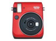Cámara Digital Instantánea Fujifilm Instax Mini 70/ Tamaño Foto 62X46Mm/ Roja