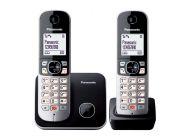Teléfono Inalámbrico Panasonic Kx-Tg6852/ Pack Duo/ Negro
