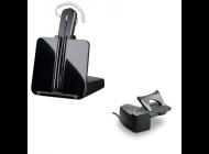 Auricular Inalámbrico Plantronics Microcasco Cs540 + Descolgador Hl10/ Negro