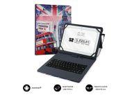 Funda Con Teclado Subblim Keytab Pro Usb England Para Tablets De 10.1'