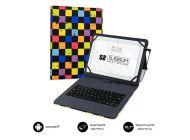 Funda Con Teclado Subblim Keytab Pro Usb Squares Para Tablets De 10.1'