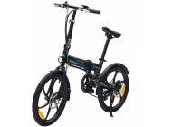 Bicicleta Eléctrica Smartgyro Ebike Crosscity Black - Motor Brushless 250W - Ruedas 20'/50.8Cm - 6 Velocidades Shimano - Frenos De Disco