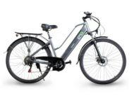 """Bicicleta eléctrica EMG Queen Citybike 28"""" 10AH Gris"""