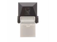 Pendrive Kingston Datatraveler Microduo - Conectores Usb Y Microusb - Compatible Otg - Usb 3.0 - 32GB
