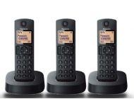 Teléfono Panasonic Trío KX-TG1612SPR Negro
