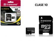 Tarjeta Micro SD Transcend 16GB Clase 10