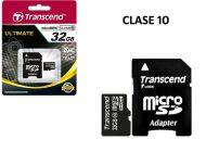 Tarjeta Micro SD Transcend 32GB Clase 10