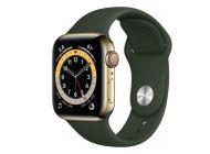 Apple Watch Series 6/ Gps/ Cellular/ 40Mm/ Caja De Acero Inoxidable En Oro/ Correa Deportiva Verde Chipre