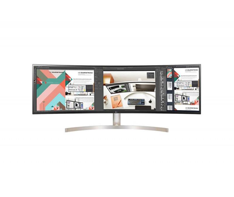 Monitor Ultrapanorámico Curvo Lg 49Wl95C-We 49'/ Dual Qhd/ Multimedia/ Blanco Y Negro